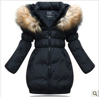 2013 Free shipping children outerwear winter children's clothing child down coat winter jackets for girls medium-long