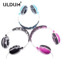 Uldum bass headset headphone for microphone or computer mp3 mp4 earphone