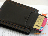 promotion !hot selling split leather men brand wallet and purse with removable card slots free shipping
