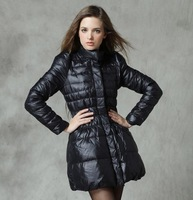 2013 medium-long Slim female down coat womens down jacket winter  snow coat free shipping