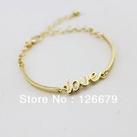 Newest Fashion Statement Gold Love&Infinity Bracelet Bangle for Women