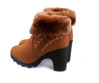 2013  fashion winter boots women manufacturers supply new thick with naked boots Martin boots warm plush increased valgus boots