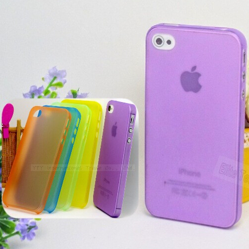 MOQ:1PC ultra-thin 0.3mm weight 4g Case/Cover For Apple iphone 4/4s Phone Protection Shell/Cases(China (Mainland))