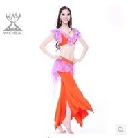 Crazy Promotions!2014 New 2 Pieces Top&Pants 6 Colours  Belly Dance Costume ,TIndian Dance Practice Clothes TP2112