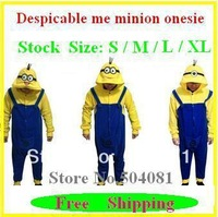 Carnival despicable me minion onesie Clothes ,Men's women's cosplay costume jumpsuit hoodies sleepwears