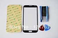 Grey Replacement LCD Front Screen Glass Lens Cover For Samsung Galaxy Note 2 II N7100 Free Tools and Adhesive Free Shipping