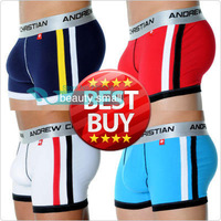 2013 Best Selling Sexy Fore Cushion Cotton Men's ac Underwear Boxers Shorts 6 Colors Mix Sizes Free Shipping!!