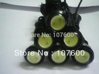 New ultra-thin high power car DRL 6pcs/lot 2.3cm 12V Eagle Eye lamp Led For Daytime Running Light Fog Light 100% Waterproof