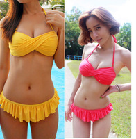 2014 new hot spring season sexy fashion candy color bikini , 6 color , female winter swimwear,beathch bathing suit