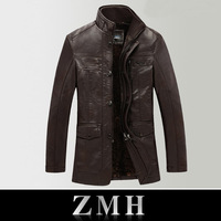 Free shipping new men's jacket men's casual leather jacket men leather jacket fashion collar coat repair leather jacket for men