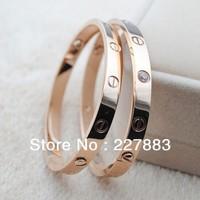 Free shipping New Hot sell fashion Rose gold bracelet for women and men wholesale eternal love lovers bracelet screwdriver