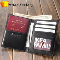 New Arrivle Fashion Luxury Leather Passport Holder Business Men wallet Designer Genuine Leather Purse Passport case