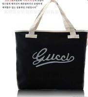 Hot sale tote bag casual canvas big bag fashion ladies should bag handbag letters printed black bag