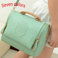 leather handbags women 2013 ,  preppy style and candy color  fashionable women's messenger bags