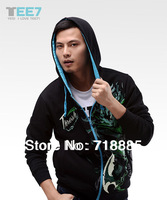 spring autumn cardigan luminous men sweatshirt male Hoodies thresh