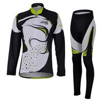 Women's Cycling Clothing set Long sleeve Fleece Bicycle Jersey + Pants