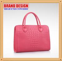 2014 Fashion Retro Brand Design Women Handbag, High Quality Crocodile Pattern Cowhide Shoulder Bag,7 Colors Messenger Bag B130