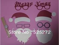 8pcs Photo Booth Props Mustache On A Stick Santa Christmas Xmas Party Fun Favor decoration