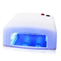 36w 220v Uv Lamp White Nail Art Dryer, Gel Nail Art Polish Drying Health Care Manicure Electric Tools, 9W * 4pcs Uv Lamp
