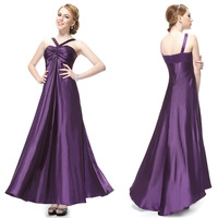 HE09656PP Ever Pretty Women's NWT Purple Ruffles Trailing Satin Padded Formal Gown Long Evening Dress