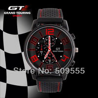 Crazy Sales 2013 New Sports Military Watch Men Racing Gift Watch Drop Shipping Army Cool Watch