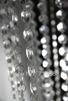HOT SALE IN STOCK!10Meter/33FT/lot 14mm octagonal acrylic beaded clear crystal garland strands for wedding decoration chandelier