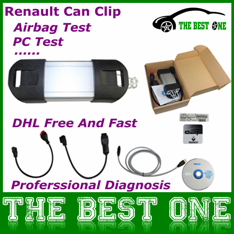 DHL Free Newest Renault Diagnostic Can Clip V136 Many Language And Function Renault Can Clip Auto Diagnostic Interface On Any PC(China (Mainland))