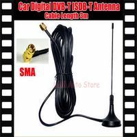 Digital TV Passive Antenna Mobile Car Digital DVB-T ISDB-T Aerial Antenna Car TV Antenna Free shipping!!!