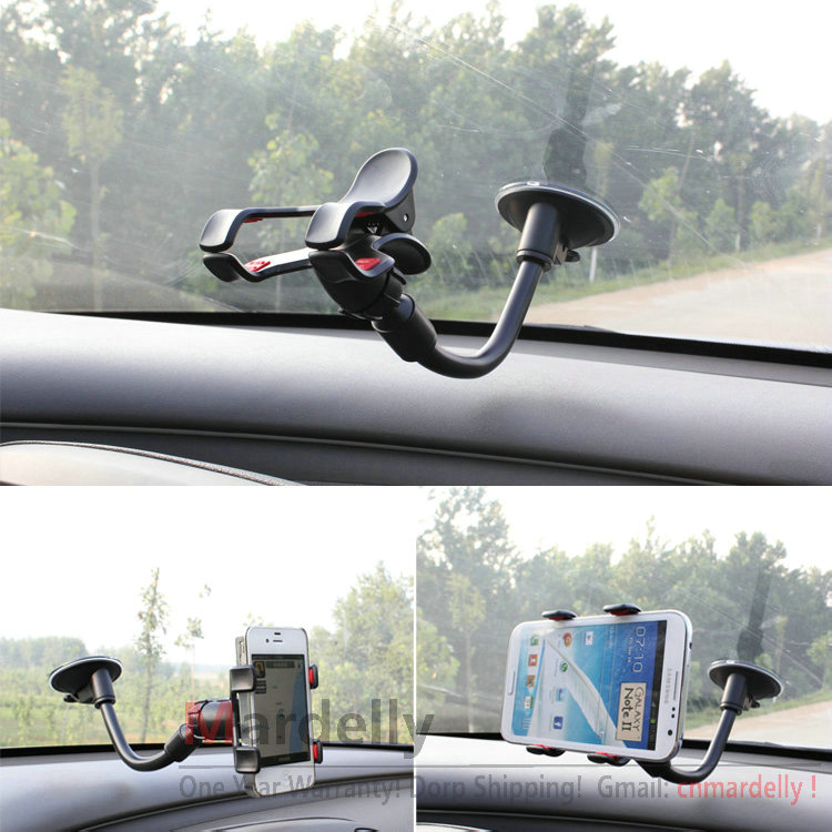 Universal Car Holder Windshield Mount Bracket for Iphone 5 Mobile Phone Holder Rotating 360 Degree Free Shipping(China (Mainland))