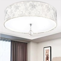 Wholesales price! 12W LED modern fabric lampshade ceiling light lamp for home/bedroom/dinning room/ living room,Free shipping !
