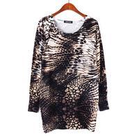 2014 Autumn Winter women's print jumper pullover long sweater dress blouse Mother Gift tricotado casaquinho feminina WS-092
