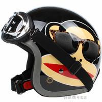 Free shipping!!Fashion Halley EVO half helmet,electric bicycle Open face helmet,vintage Motorcycle helmet,Cartoon monkey Julius