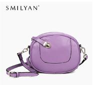 Free shipping 100% genuine leather women messenger bags goose egg shape women cross body shoulder bags purses bags