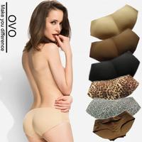 OVO!2014 new women Padded Seamless Butt Hip Enhancer Shaper panties girl briefs lady sex Ultra-thin No trace Leopard underwear