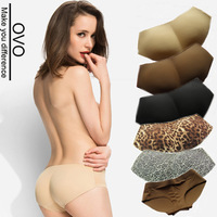 OVO!2014 new women Padded Seamless Butt Hip Enhancer Shaper panties girl briefs lady sex Ultra-thin No trace Leopard underwear