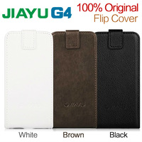 Free Shipping Black White Brown 3 Color Jiayu G4 Leather Case With High Quality Flip Cover Case For Jiayu G4 G4c G4s Smart Phone