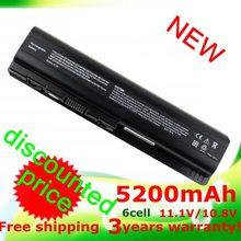5200mAh laptop Battery for HP Pavilion DV4 DV5 DV6 G71 G50 G60 G61 G70 HSTNN-IB72 HSTNN-LB72 HSTNN-LB73 HSTNN-UB72 HSTNN-UB73(China (Mainland))