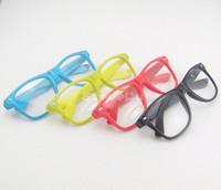 New Retro Fashion Vintage Style Clear Wayfarer Nerd Geek Colorful glasses