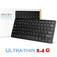 Russian Keyboard 2.4G Wireless Ultra Slim USB Mini Keyboard for Windows 8 7 XP Vista & Android tv Box(Silver/Black)