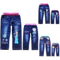 2014 fashion frozen kids jeans spiderman boys jeans frozen princess girls jeans retail children's jeans