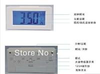 1pc Hot Items White Tone Digital Temperature LED LCD Snooze Station Calendar Desk Clock digital table Clock LED-C80324