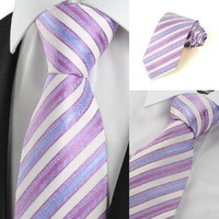 Free shipping new style men's silk jacquard striped tie--General tie