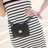 2014 waist pack women's waist pack chain strap fashion mini bags