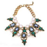 Brand Designer Vintage Jewelry Luxury Pearl Pendants & Necklaces Shourouk Statement Necklace Bijouterie 2 Colors Free Shipping