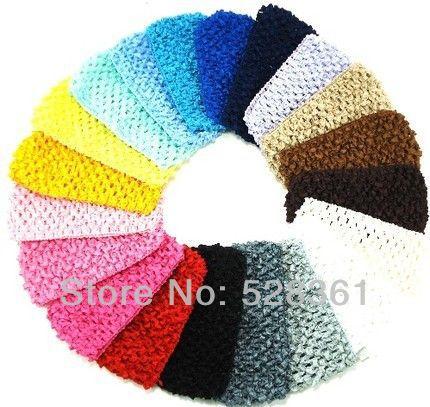 "Bulk Sale 1.5"" Cheap Low Price 120pcs New Hot Crochet Baby Girl Headband Crochet Headwrap Headbands Headwear Assorted 12 Colors(China (Mainland))"