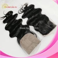 Natural Color Body Wave Silk Base Top Closure Brazilian Virgin Human Hair4x4Silk Top Lace Closures No Baby Hair In Stock Closure