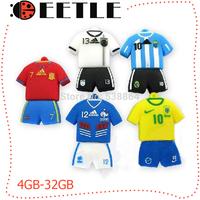 2014 World Cup Usb Memory Flash Jersey Usb Flash Drive European Memory Flash Card Usb 2.0pendrive Usb Disk  8gb 32gb 16gb