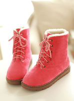 Spring And Autumn Fashion Platform Shoes Flat Boots Martin Boots Candy Color Shoes Boots