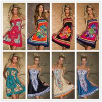 New Fashion Vintage Paisley Printed Women Dresses Behemian Plus Size Summer Dress R76962P