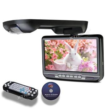 "9"" Black Color Car Roof Monitor DVD Flip Down Car DVD with Built in IR/FM Transmitter & Built-in Speaker (Grey & Beige Optional)"